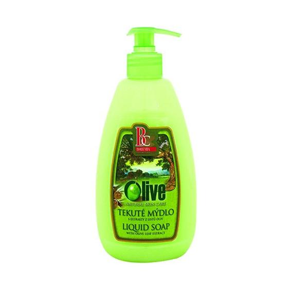 Krémové tekuté mydlo 500 ml oliva s pumpičkou