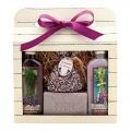 Darčekové balenie La Provence - sprchový gél 100 ml, toaletné mydlo 100 g, olejová kúpeľ 100 ml, vonné vrecko s bylinkami