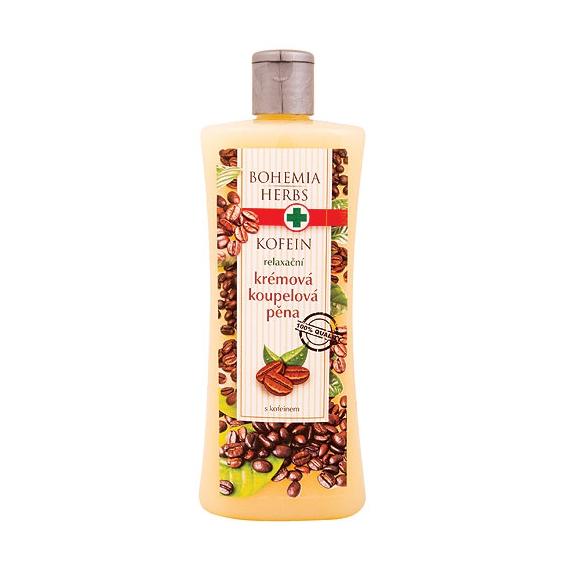 Krémová pena do kúpeľa s kofeínom a olivovým olejom 500 ml