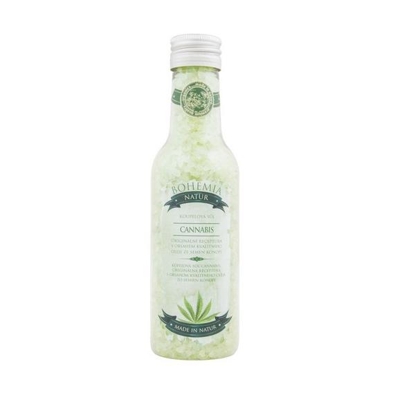 Cannabis Premium - soľ do kúpeľa s konopným olejom 260g