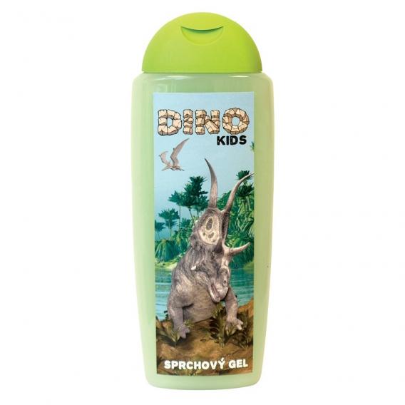 DINO - detský krémový sprchový gél - zelený 300 ml