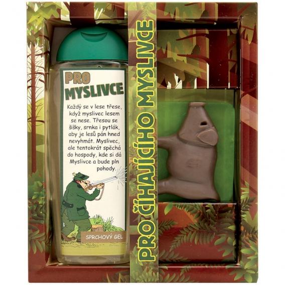 Darčekové balenie pre poľovníka - sprchový gél 300 Ml, ručne vyrábané mydlo