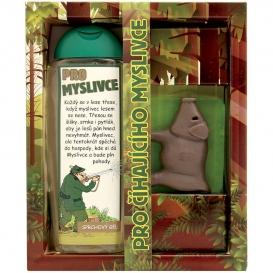 Darčekové zábavné balenie pre poľovníka - sprchový gél a ručne vyrábané mydlo