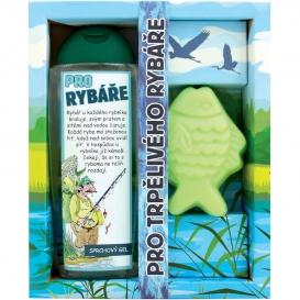 Darčekové zábavné balenie pre rybára - sprchový gél a ručne vyrábané mydlo