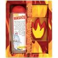 Darčekové balenie pre hasiča - sprchový gél 300 ml, ručne vyrábané mydlo