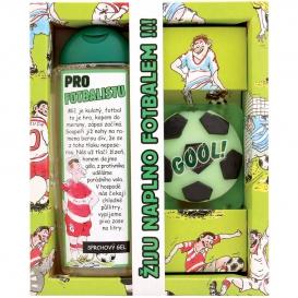 Darčekové balenie pre futbalistu - sprchový gél 300 ml, ručne vyrábané mydlo