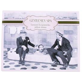 """Darčekové balenie """"Gentleman Spa"""" - olejová kúpeľ 200 ml, darčekový sprchový gél 100 ml, 2x ručne vyrábané mydlo"""
