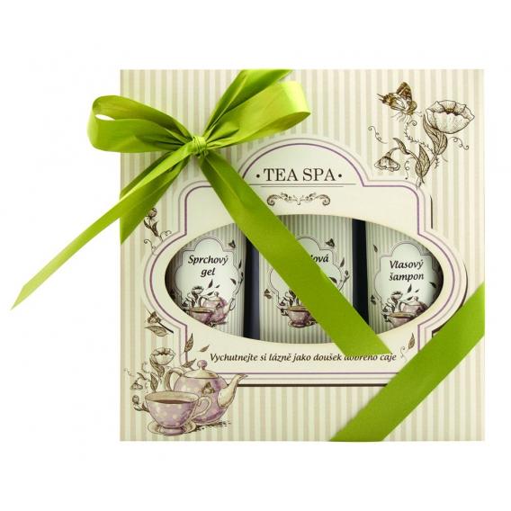 """Darčekové balenie """"TEA SPA"""" - pena do kúpeľa 250 ml, sprchový gél 200 ml, vlasový šampón 200 ml"""