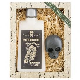 Darčekový balíček - sprchový gél 200ml, mydlo 30g - MOTORCYCLE VINTAGE