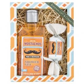 Darčekový balíček - sprchový gél 200ml, mydlo 30g - MOSTACHOS