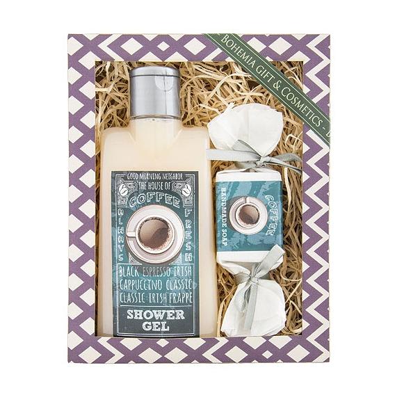 Darčekový balíček - sprchový gél 200ml, mydlo 30g - COFFEE