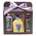 Darčekové balenie Levanduľa - sprchový gél 100 ml, soľ do kúpeľa 150 g, olejová kúpeľ 100 ml