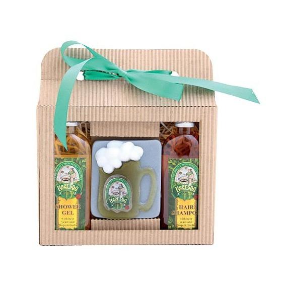 Darčekové balenie Beer SPA - sprchový gél 100 ml, mydlo (polliter), vlasový šampón 100 ml