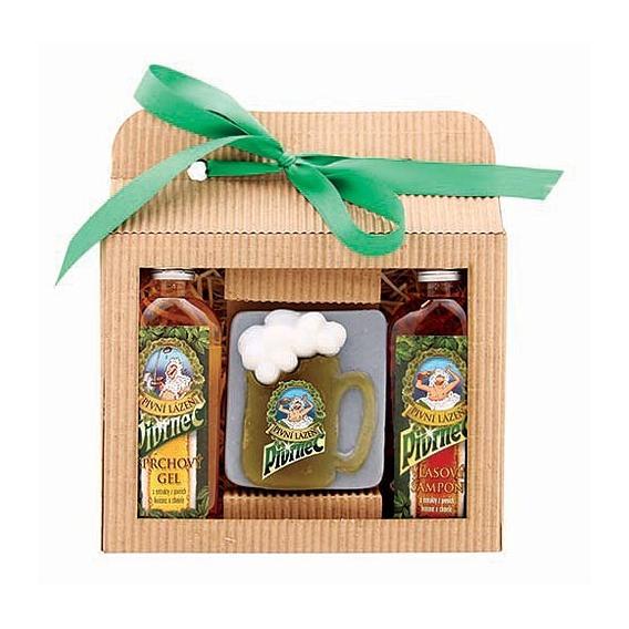 Darčekové balenie Pivrnec - sprchový gél 100 ml, mydlo (polliter), vlasový šampón 100 ml