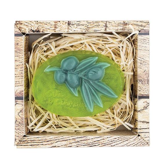 Ručne vyrábané mydlo v krabičke - oliva 90 g