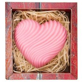 Ručne vyrábané mydlo v krabičke - srdce 120 g