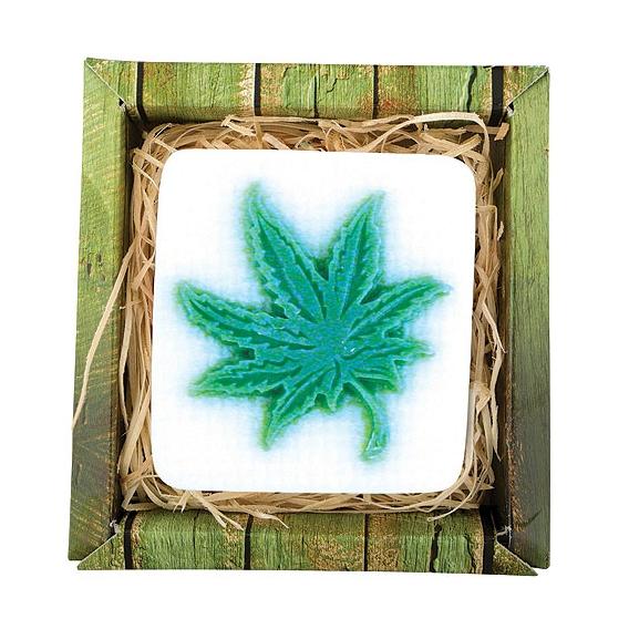 Ručne vyrábané mydlo v krabičke - cannabis 80 g