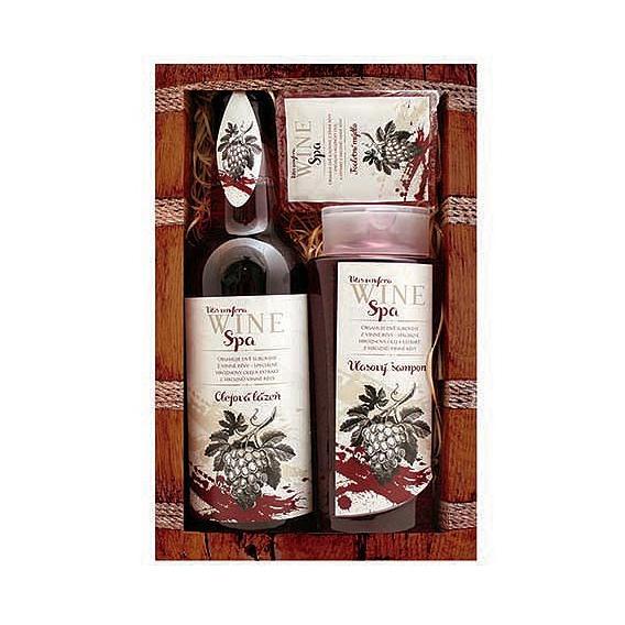 Darčekové balenie Wine SPA - vlasový šampón 250 ml, olejový kúpeľ 500 ml, mydlo 70 g