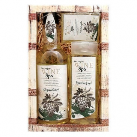 Darčekové balenie Wine SPA - sprchový gél 250 ml, olejový kúpeľ 500 ml, mydlo 70 g