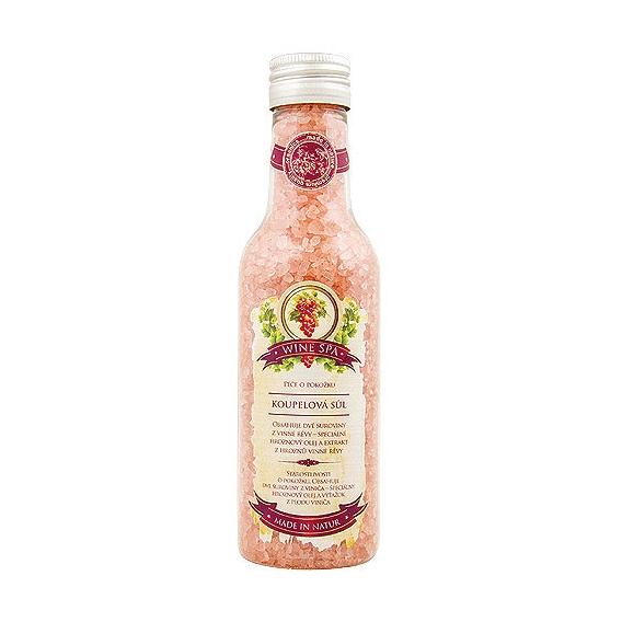 Wine SPA Premium - soľ do kúpeľa 260 g - s hroznovým olejom a extraktom z vínnej révy
