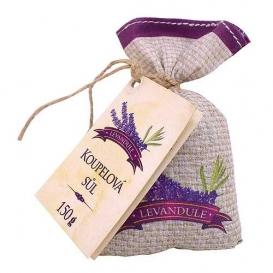 Soľ do kúpeľa v plátenom vrecku s bylinným extraktom a vôňou levandule 150 g
