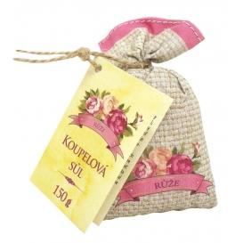 Soľ do kúpeľa v plátenom vrecku s extraktmi zo šípky a kvetov ruže 150 g