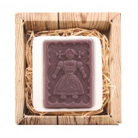 Ručne vyrábané mydlo v krabičke – sedliačka (fialové) 85 g