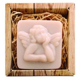 Ručne vyrábané mydlo v krabičke - anjel 80 g