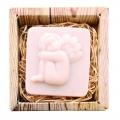 Ručne vyrábané mydlo v krabičke – anjel (sediaci) 80 g