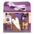 Darčekové balenie Levanduľa - krémový sprchový gél 100 ml, patchwork, olejový sprchový gél 100 ml