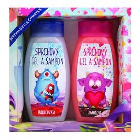 Detské darčekové balenie Monsters  - sprchový gél 250 ml, vlasový šampón 250 ml