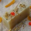 Olivové mydlo Nechtík lekársky, krájané