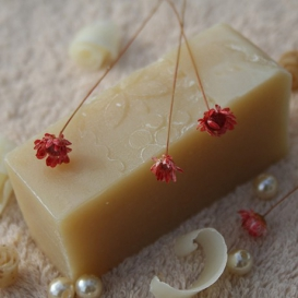 Olivové mydlo Kozie mlieko pre suchú a citlivú pokožku, krájané