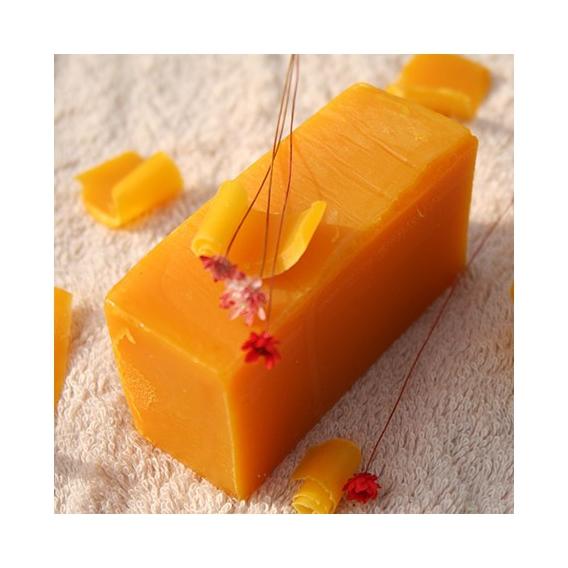 Olivové mydlo Červený palmový olej & Pomaranč na zvláčnenie pokožky, krájané