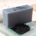 Olivové mydlo s aktívnym uhlím, krájané