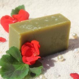 Olivové mydlo Geránium, krájané