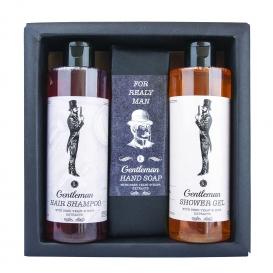Darčekové balenie GENTLEMAN - sprchový gél, mydlo a šampón
