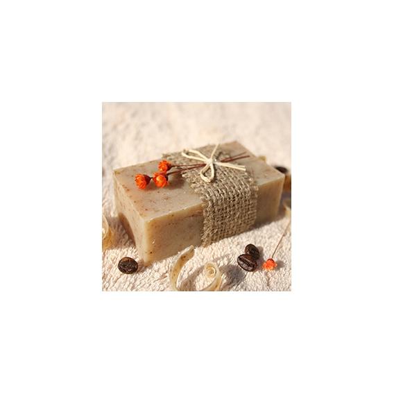 Olivové mydlo Káva-peeling na prekrvenie pokožky, dekoračné