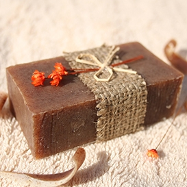 Olivové mydlo Škorica-peeling, dekoračné