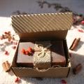 Olivové mydlo Škorica-peeling v krabičke