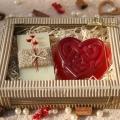 Olivové mydlo Natural & Glycerínové mydlo SRDCE v krabičke