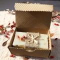 Olivové mydlo Medovka lekárska v krabičke