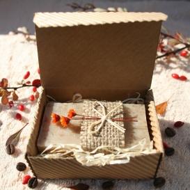 Olivové mydlo Káva-peeling na prekrvenie pokožky v krabičke