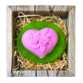 Ručne vyrábané mydlo v krabičke - srdce a kvety