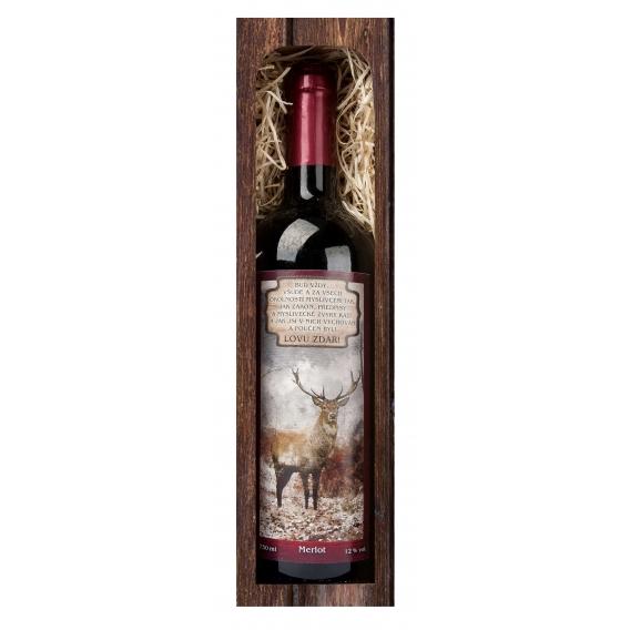 Rybárske červené víno Merlot 750 ml - Lovu zdar