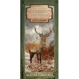 Darčeková mliečna čokoláda pre poľovníka