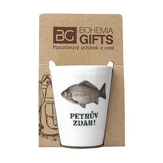 Darčekový porcelánový pohárik pre rybára - kapor