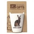 Darčekový porcelánový pohárik pre poľovníka - zajac