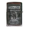 Retro zapaľovač - Silver lake