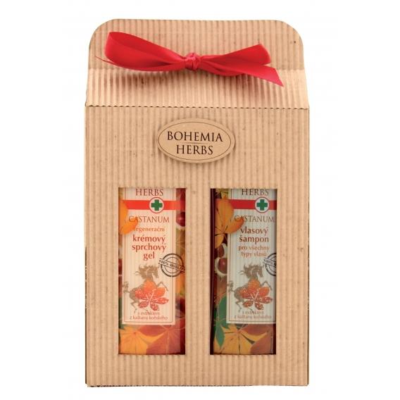 Darčekové balenie Castanum - sprchový gél 250 ml, vlasový šampón 250 ml